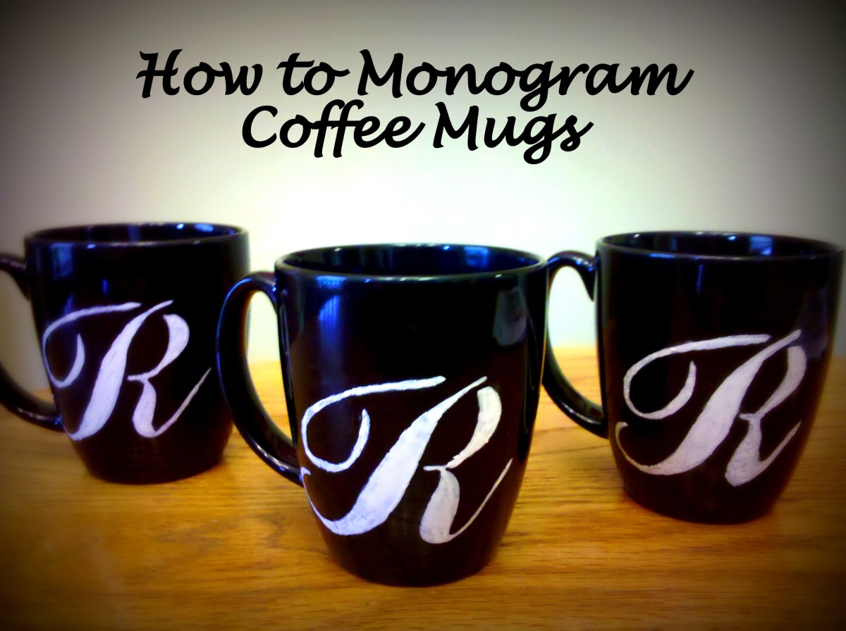 How to monogram coffee mugs hubpages for How to paint a mug
