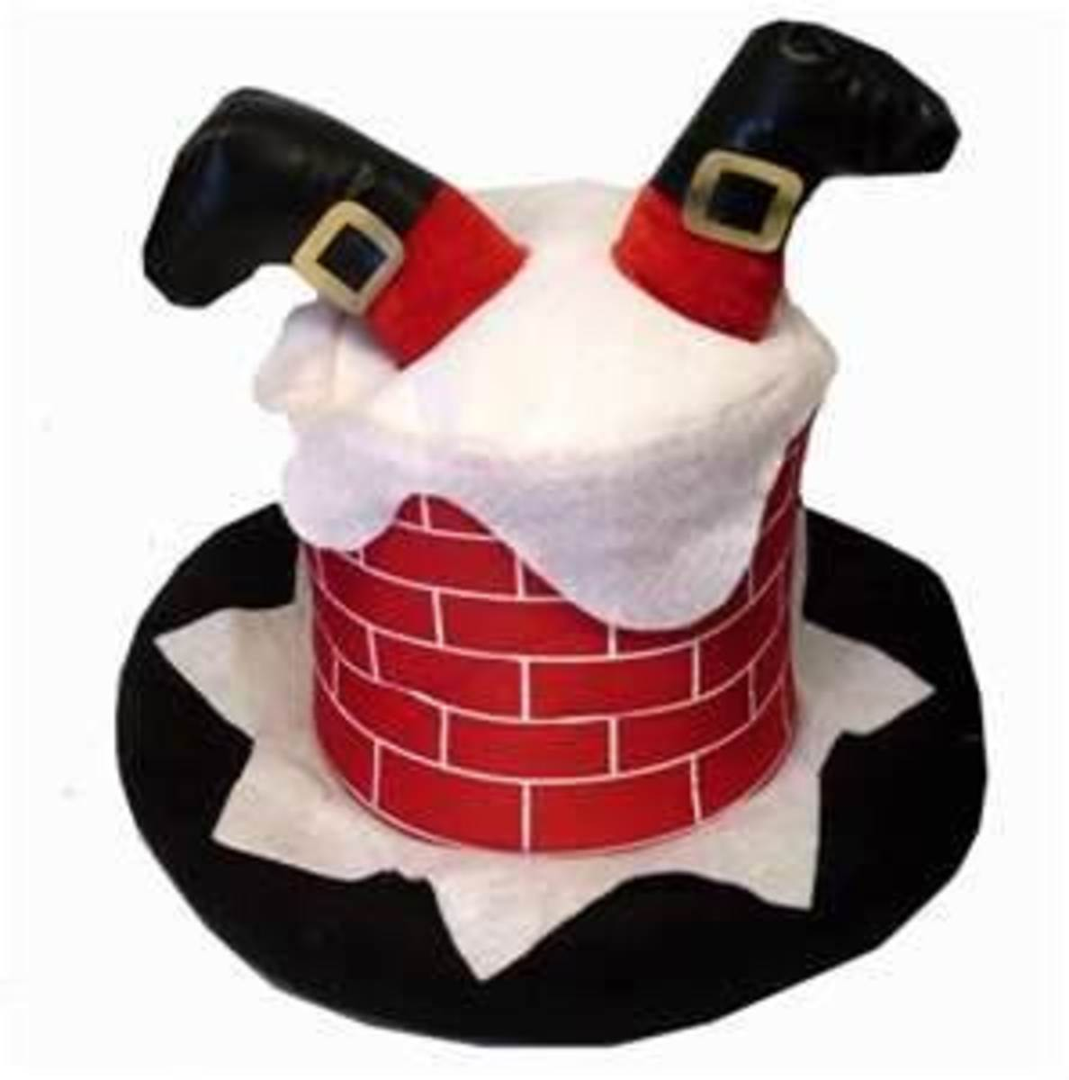 Santa in Chimney Hat