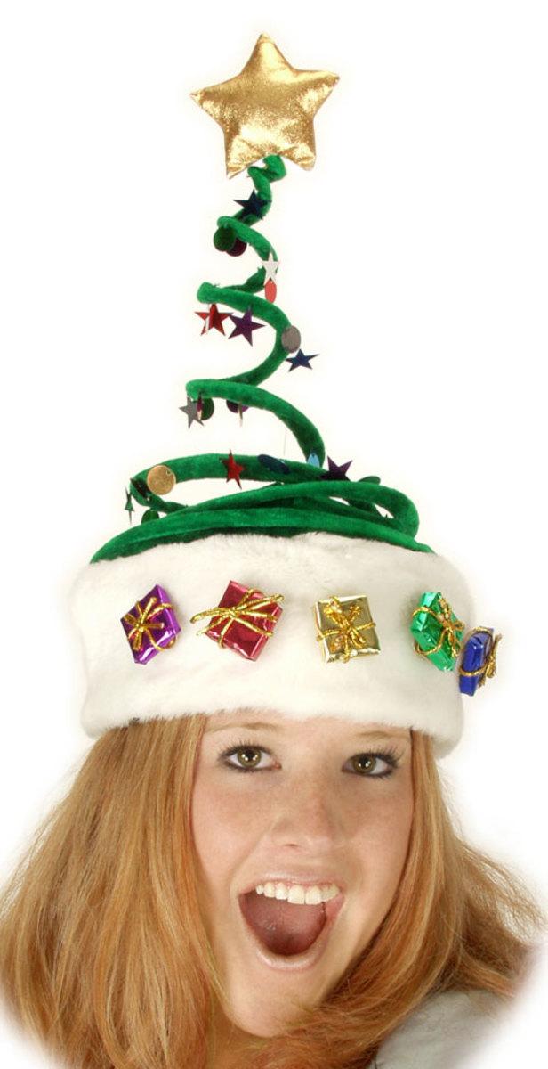 Christmas novelty hats trees reindeer turkeys elves