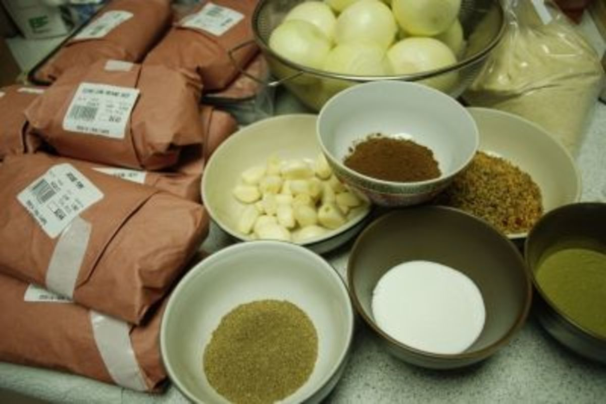 Ingredients set out and ready.