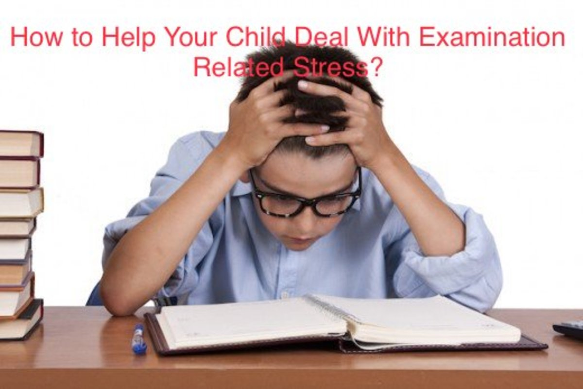 Help your child, to deal with the examination related stress or anxiety.