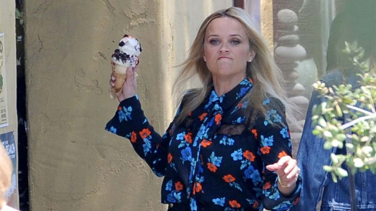 Even celebrities like Reese Witherspoon, get angry and toss ice cream cones at their friends.