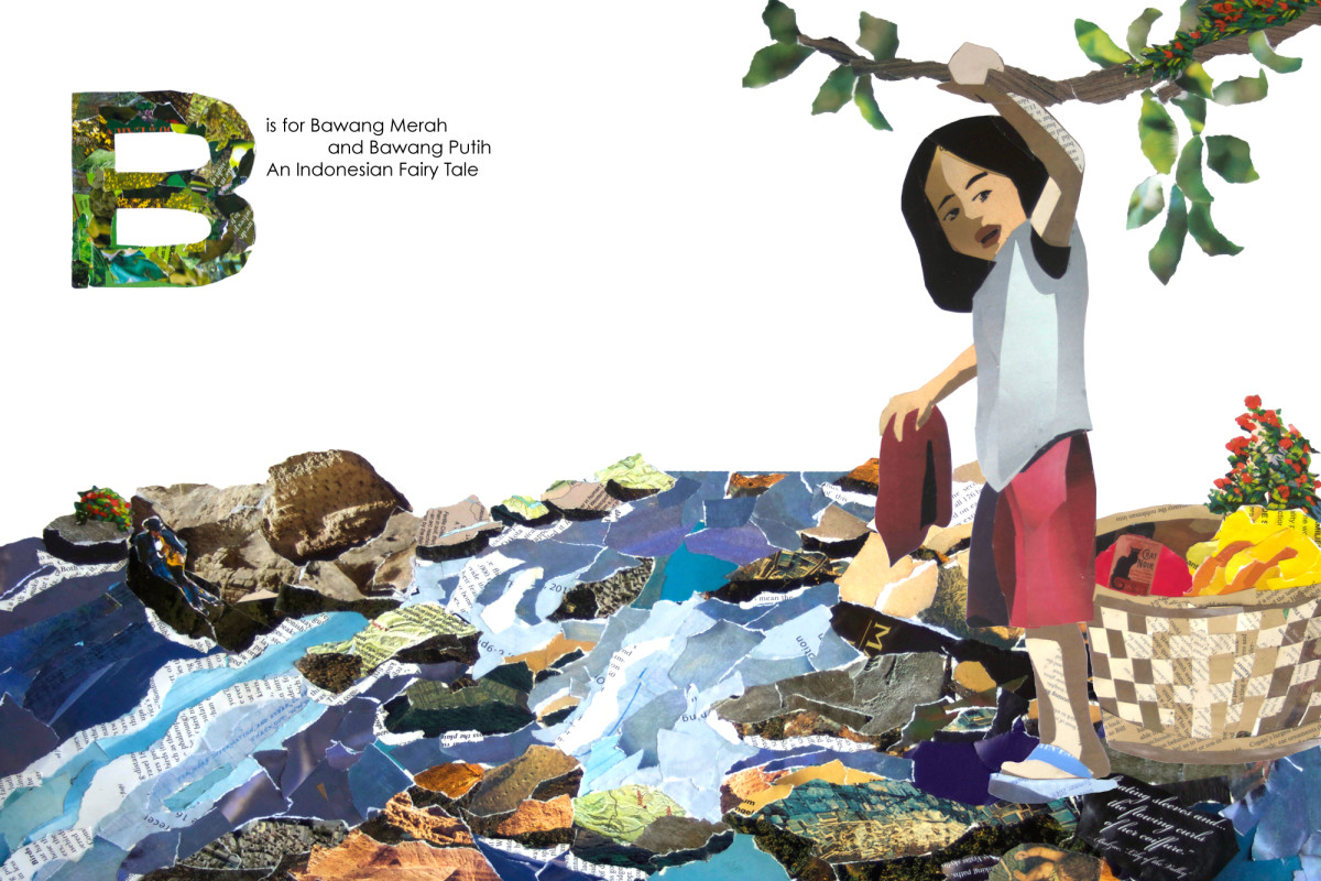Bawang Merah and Bawang Putih, An Indonesian Fairy Tale illustration