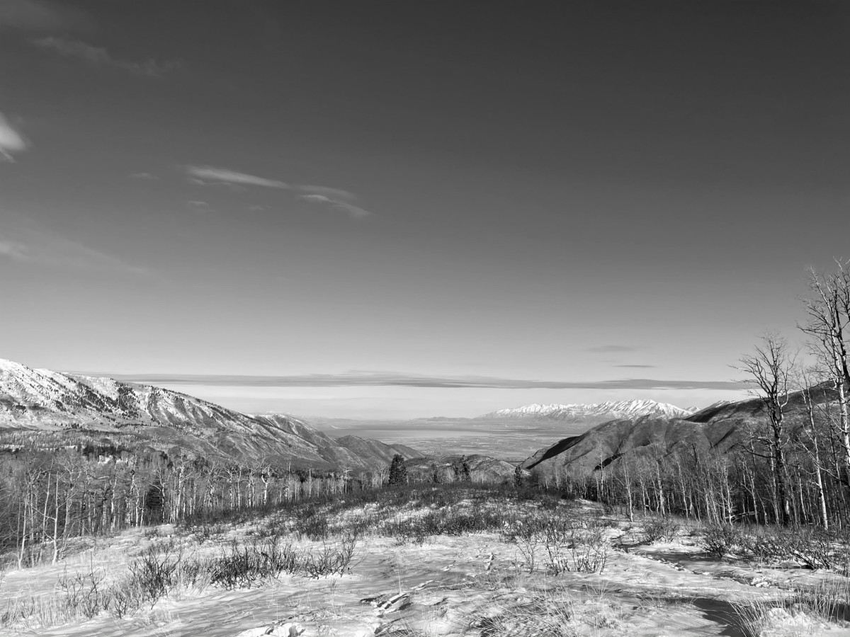 Beautiful Nebo Loop in black and white image.