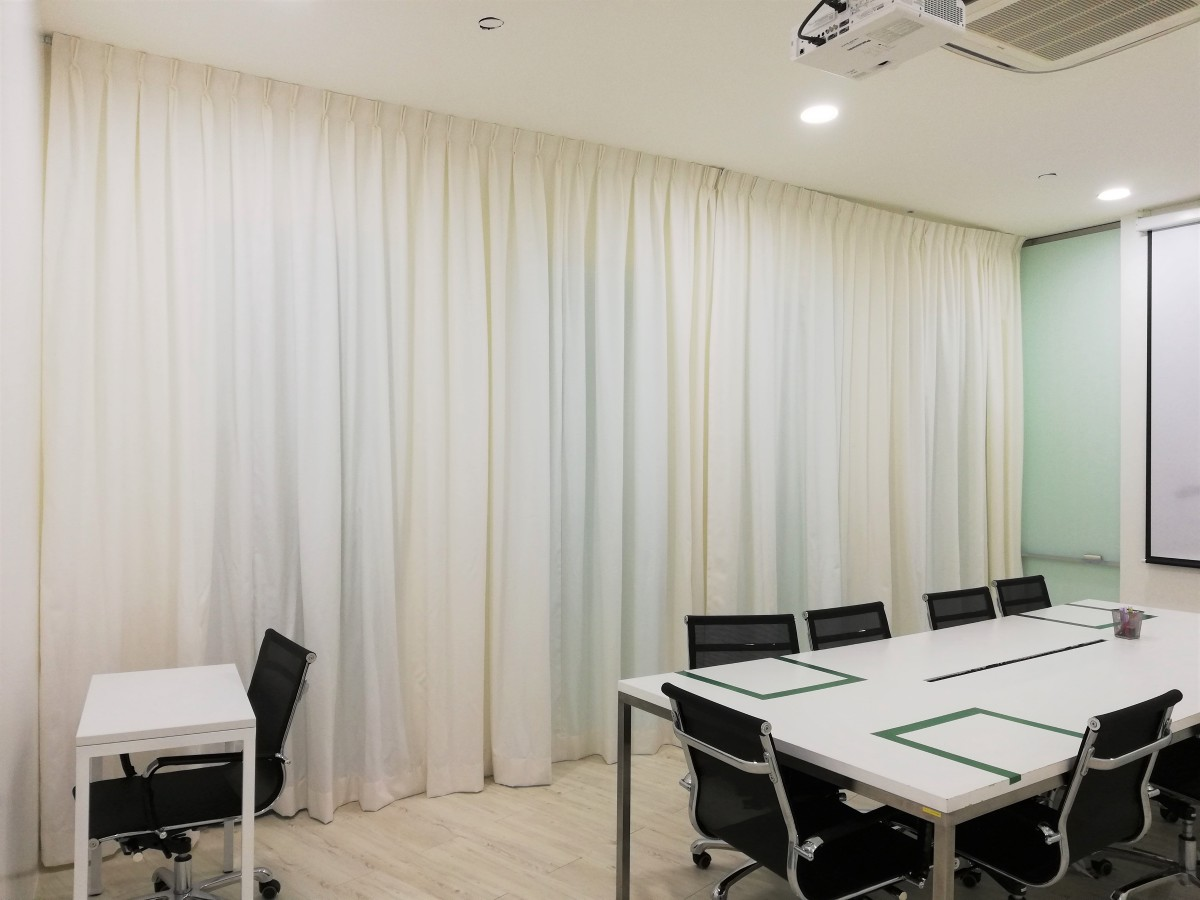 Installation of fabric curtains