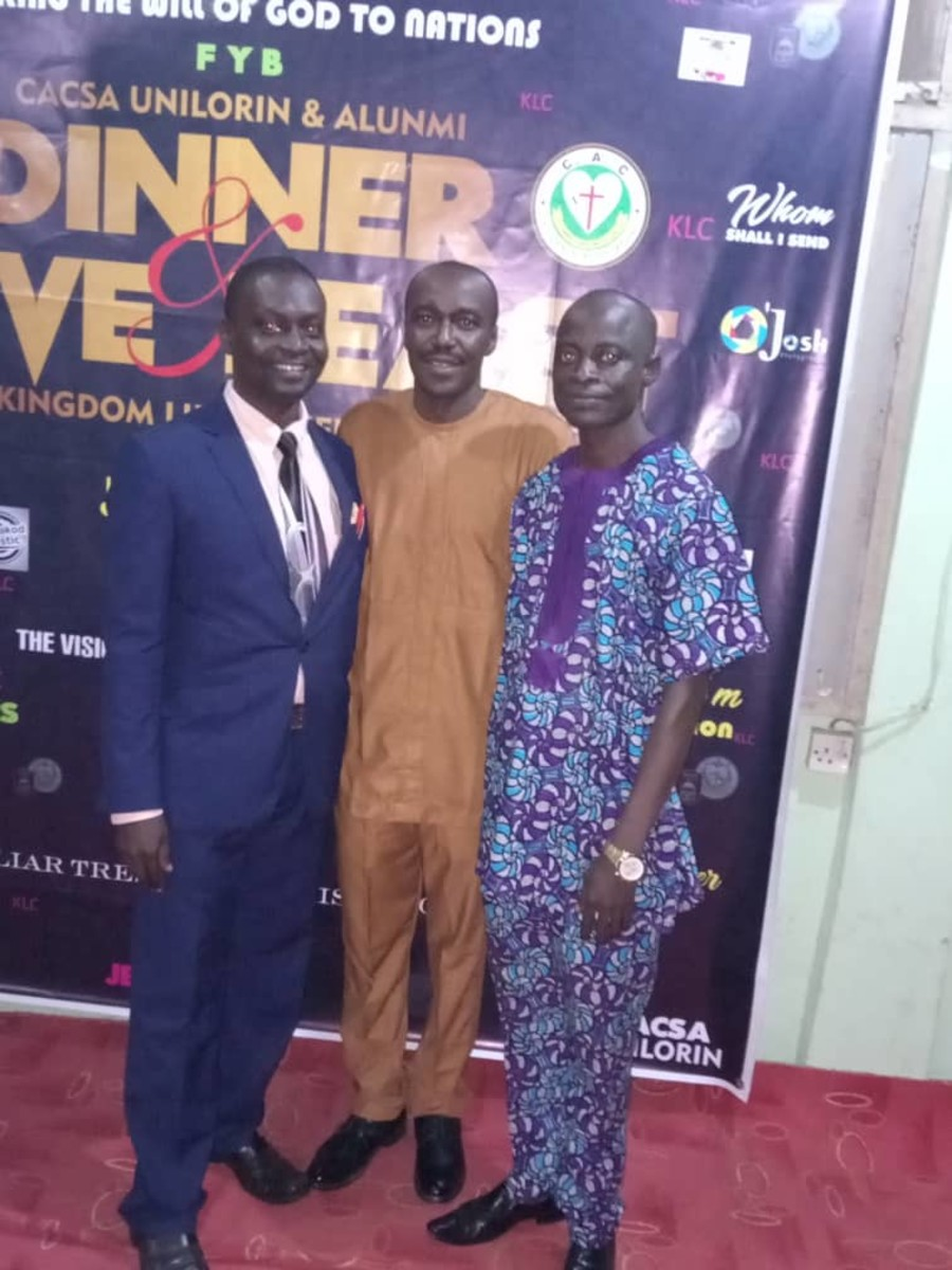 From Left to Right: Me, Shola Idowu and Seyi Ajao at 2019 Reunion