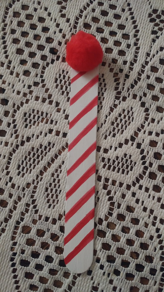 Candy Cane themed bookmark.