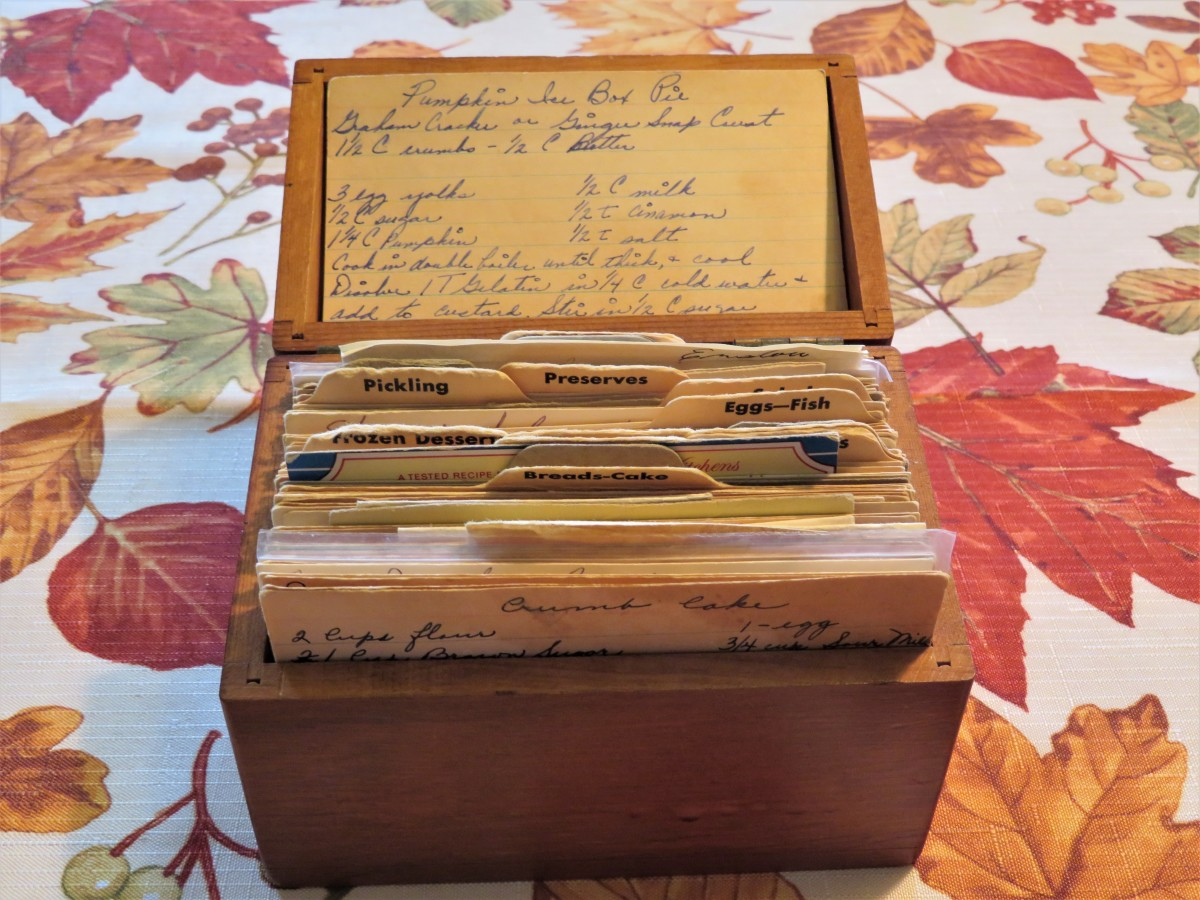 My mother's old recipe box