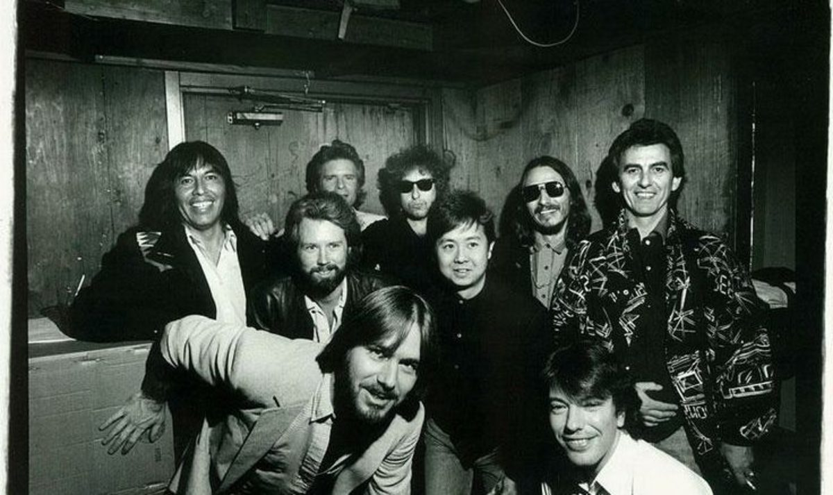 Jessie Ed Davis (left center) with friends