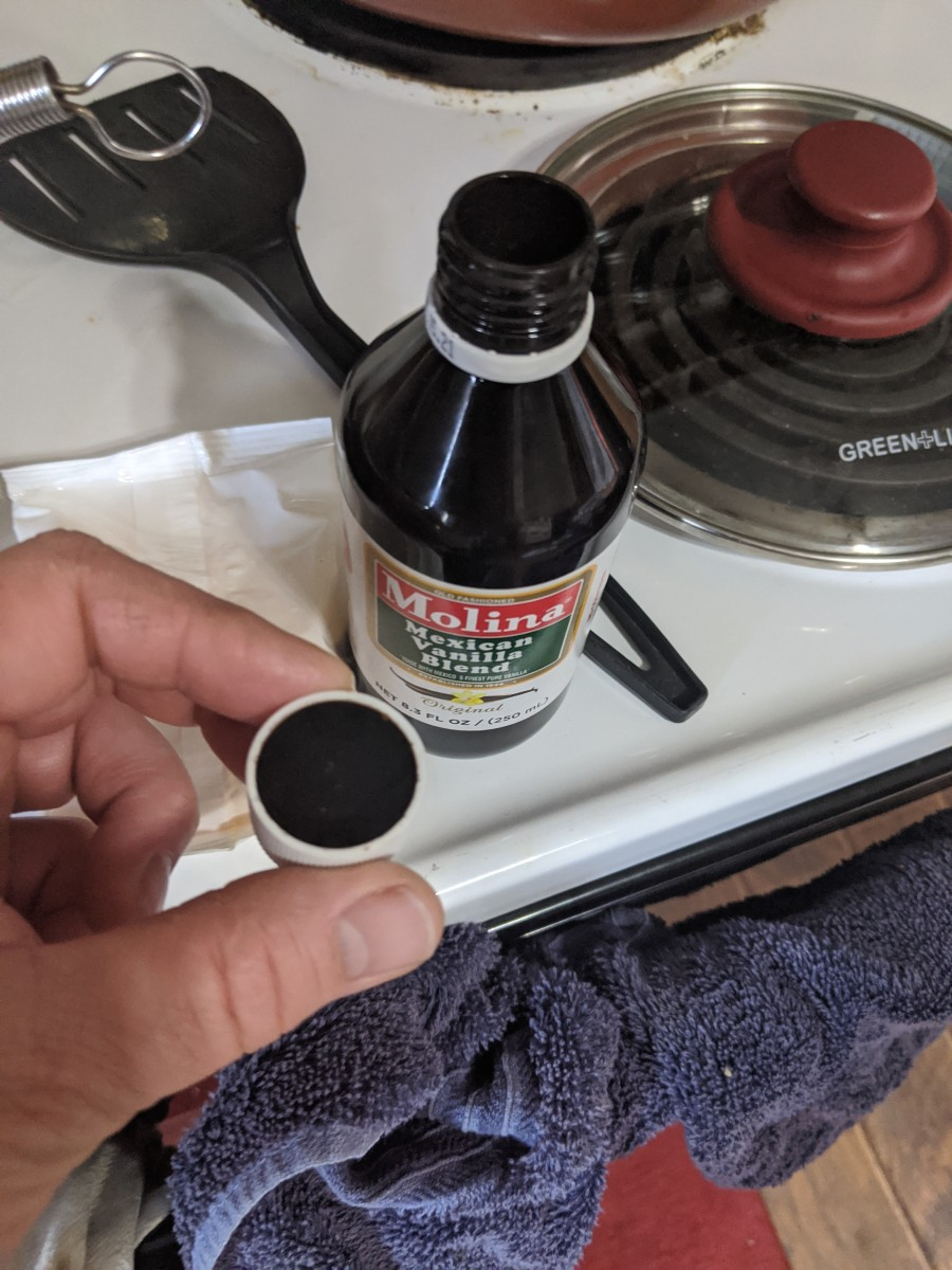 add capful of vanilla to the milk mixture