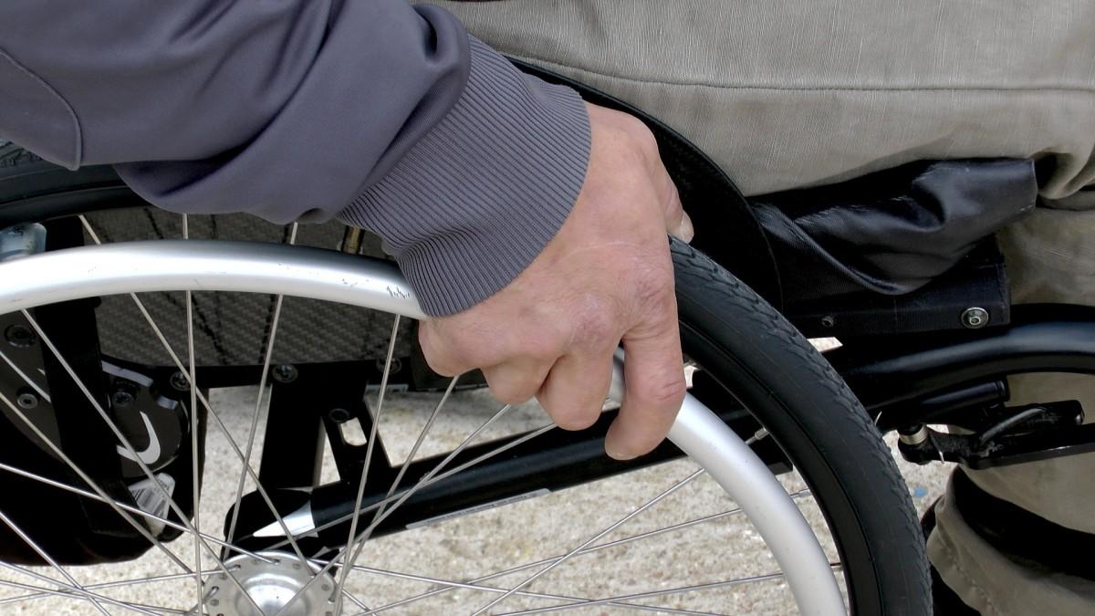 A disabled man