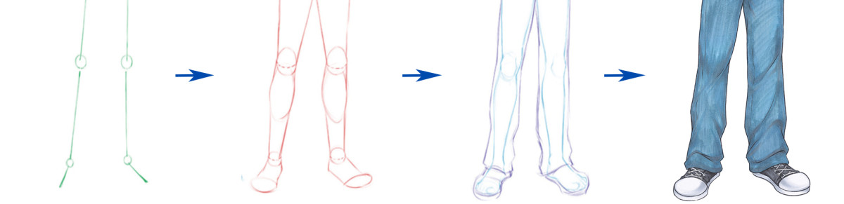 Drawing the legs