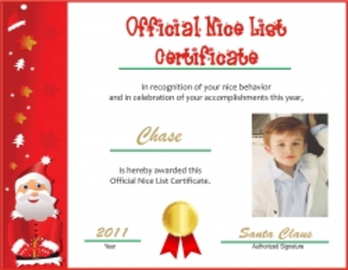 Where to Get a Nice List Certificate from Santa Claus