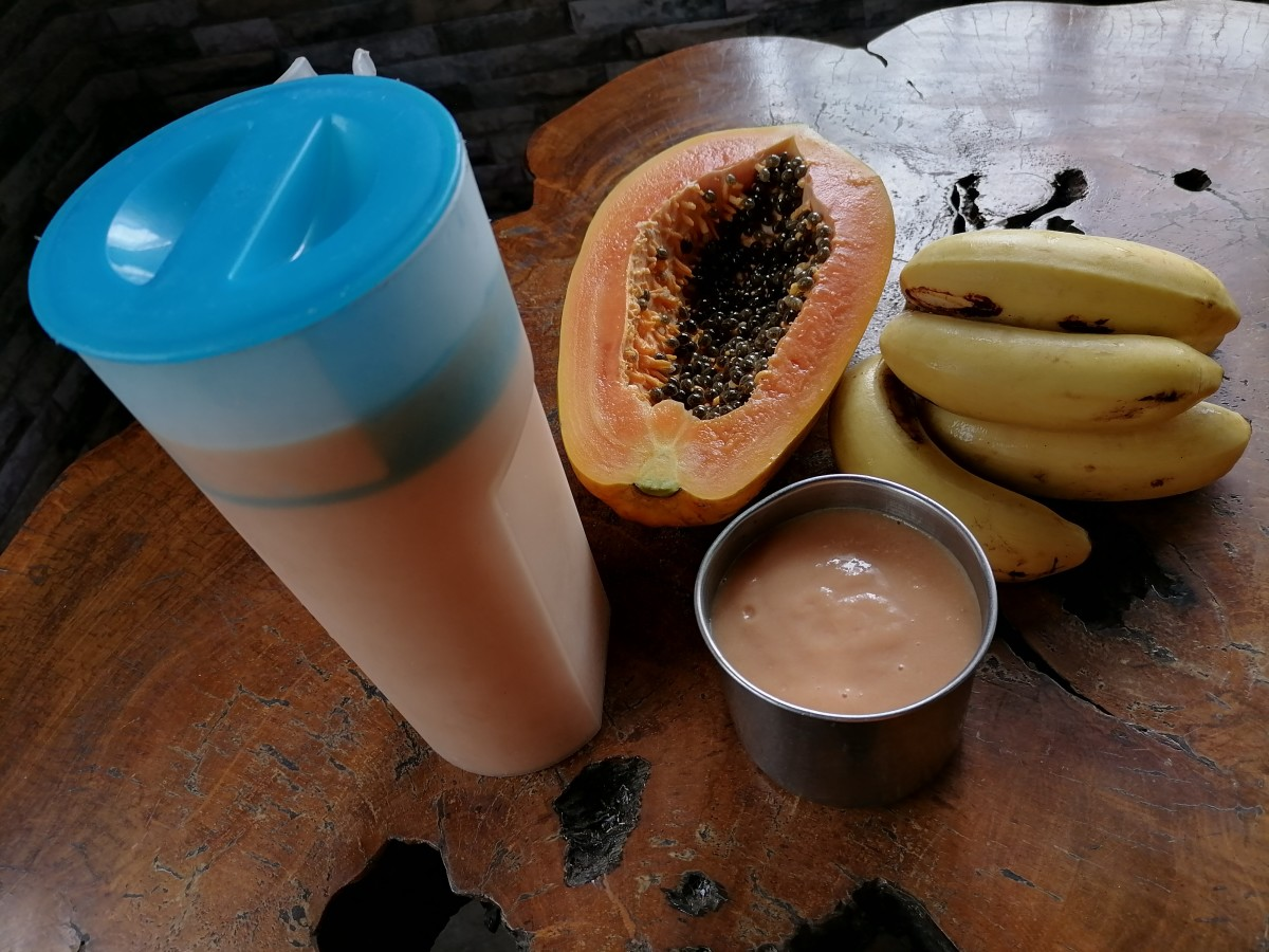 papaya banana milkshake