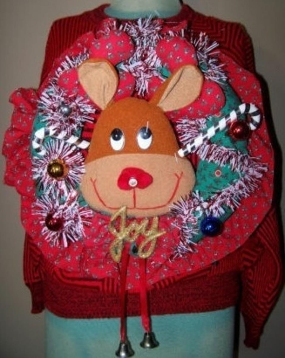 Reindeer Pretty Ugly Tacky Foofoo Christmas Sweater ;)