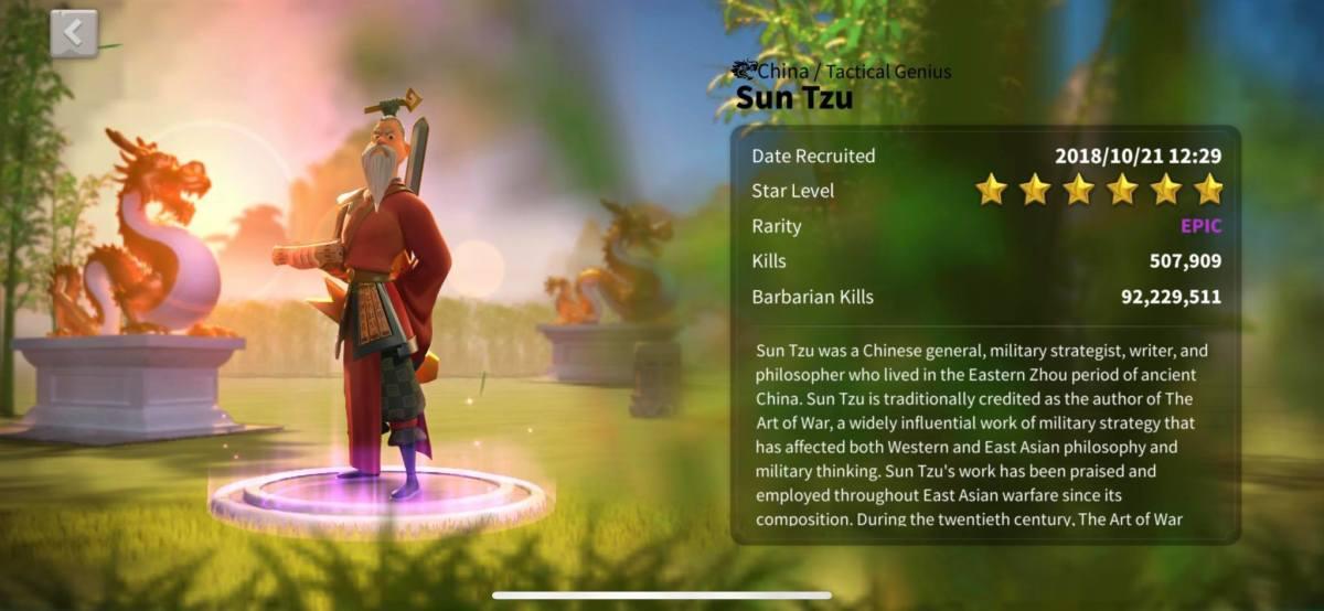 Sun Tzu Profile Info Page