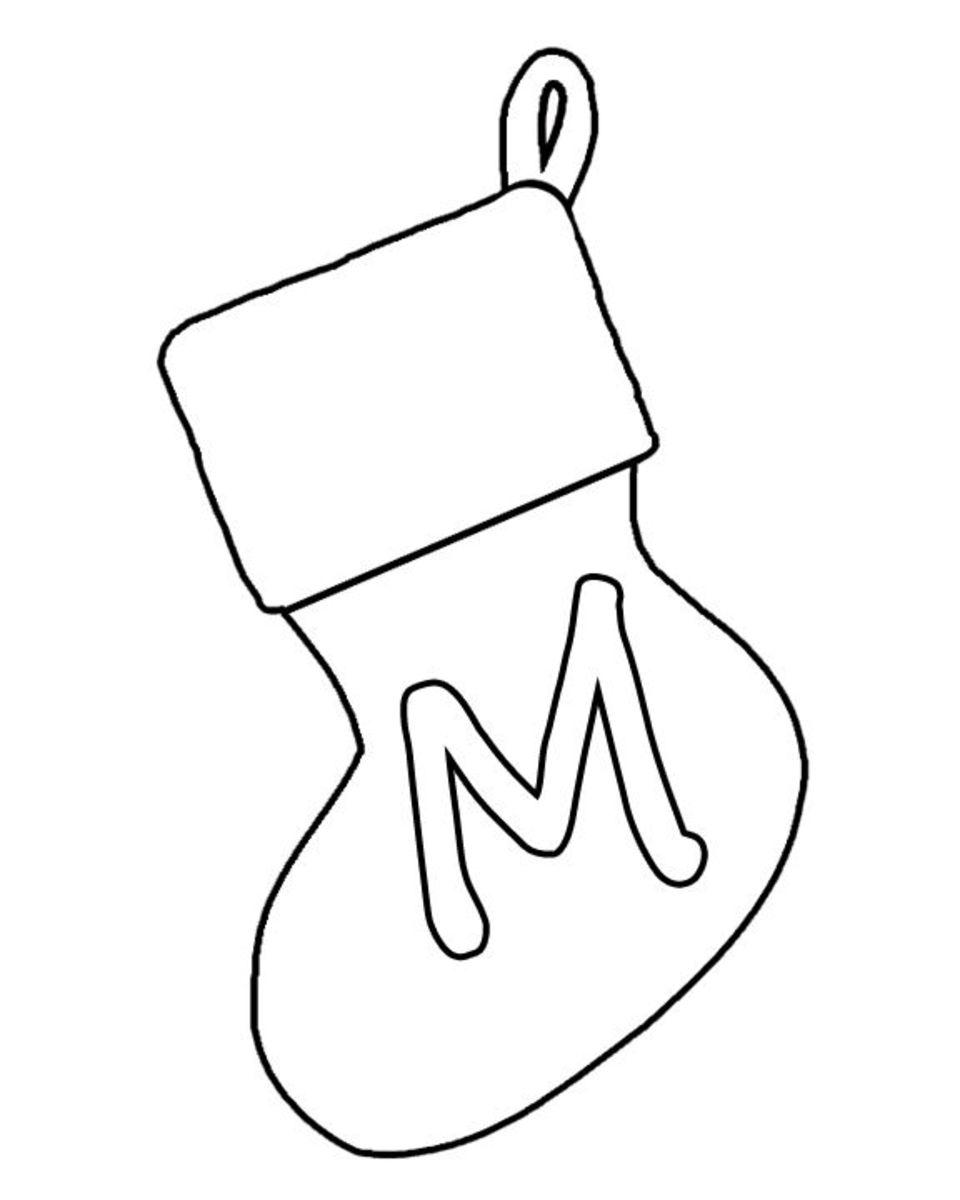 Christmas Stocking Banner Letter M X 2