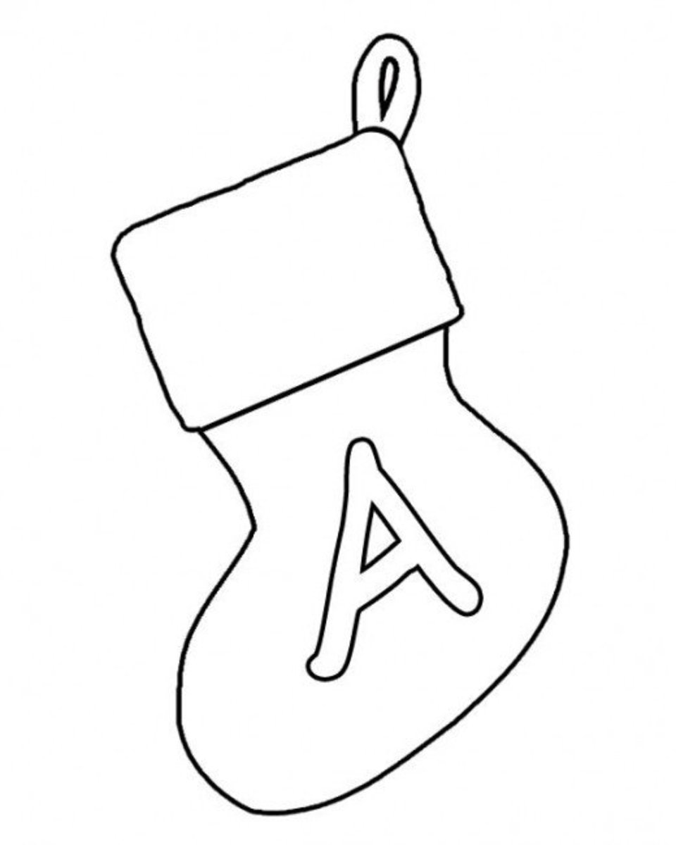 Christmas Stocking Banner Letter A X1