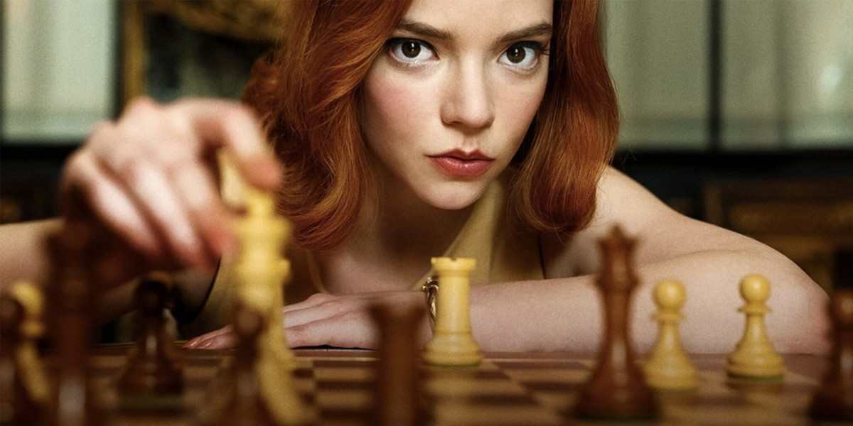 Anya Taylor-Joy as Beth Harmon in The Queen's Gambit