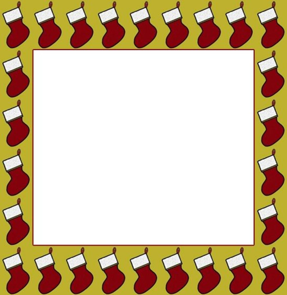 Printable Christmas Frame - Stockings