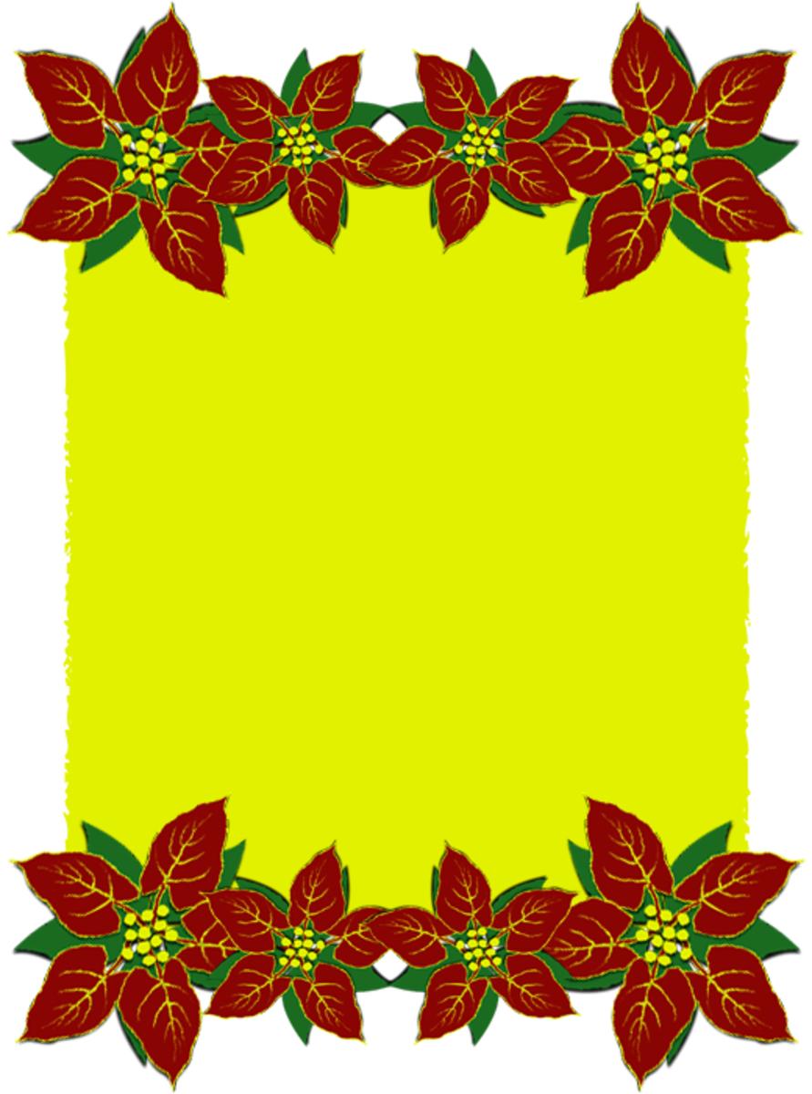 Free printable christmas scrapbook paper for Poinsettia christmas tree frame