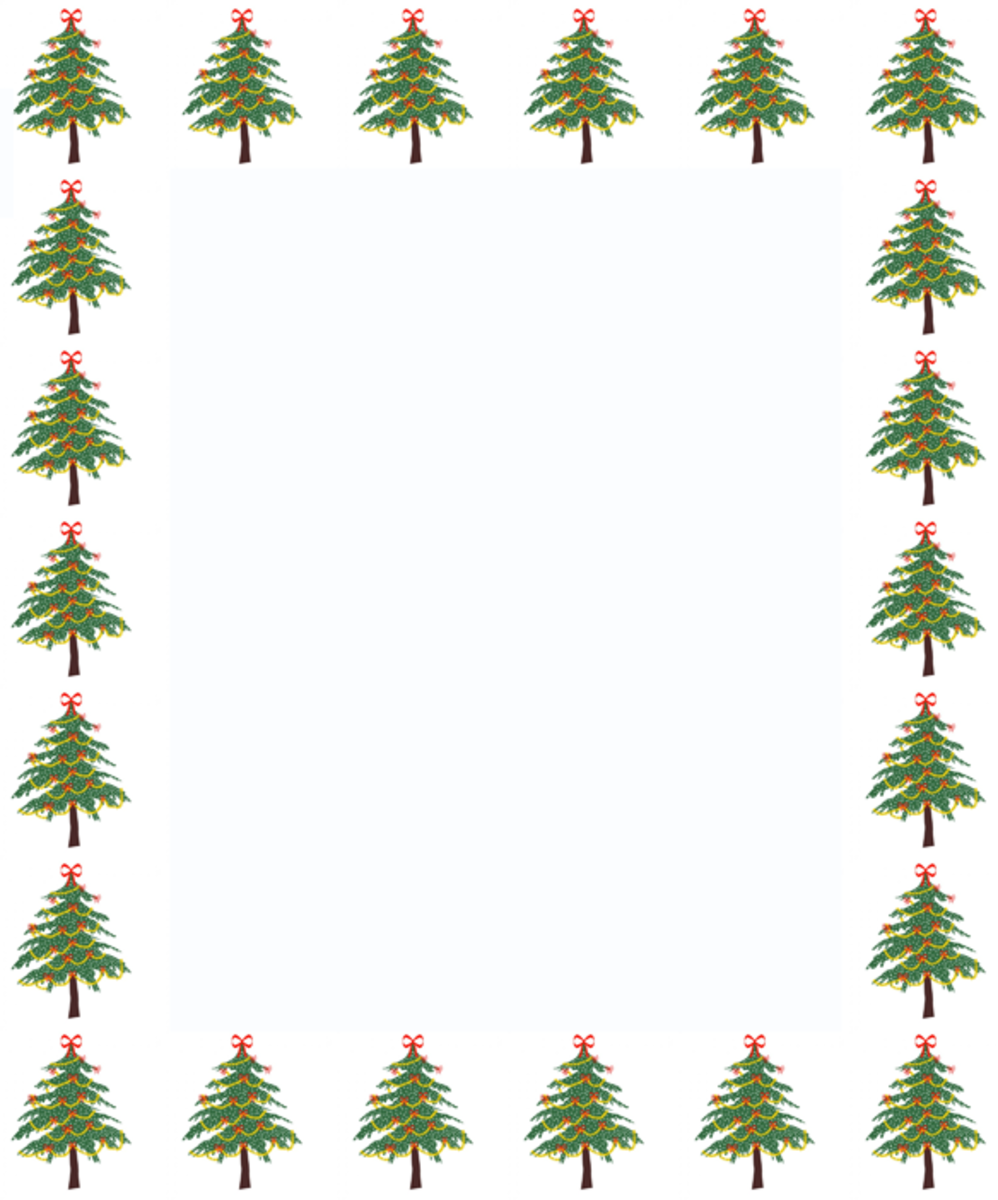 Christmas Trees Clip Art Frame