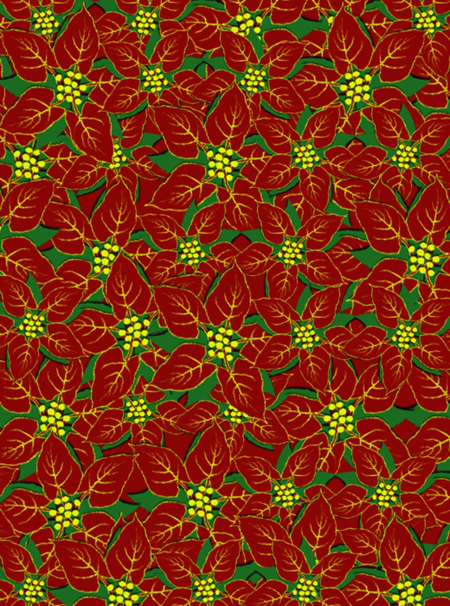 Christmas poinsettia pattern.