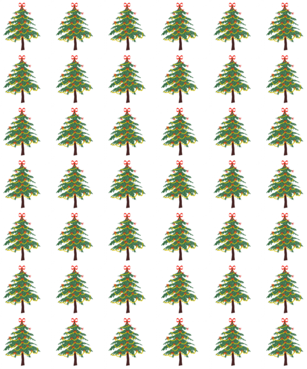 Printable Holiday Scrapbook Pattern - Xmas Trees
