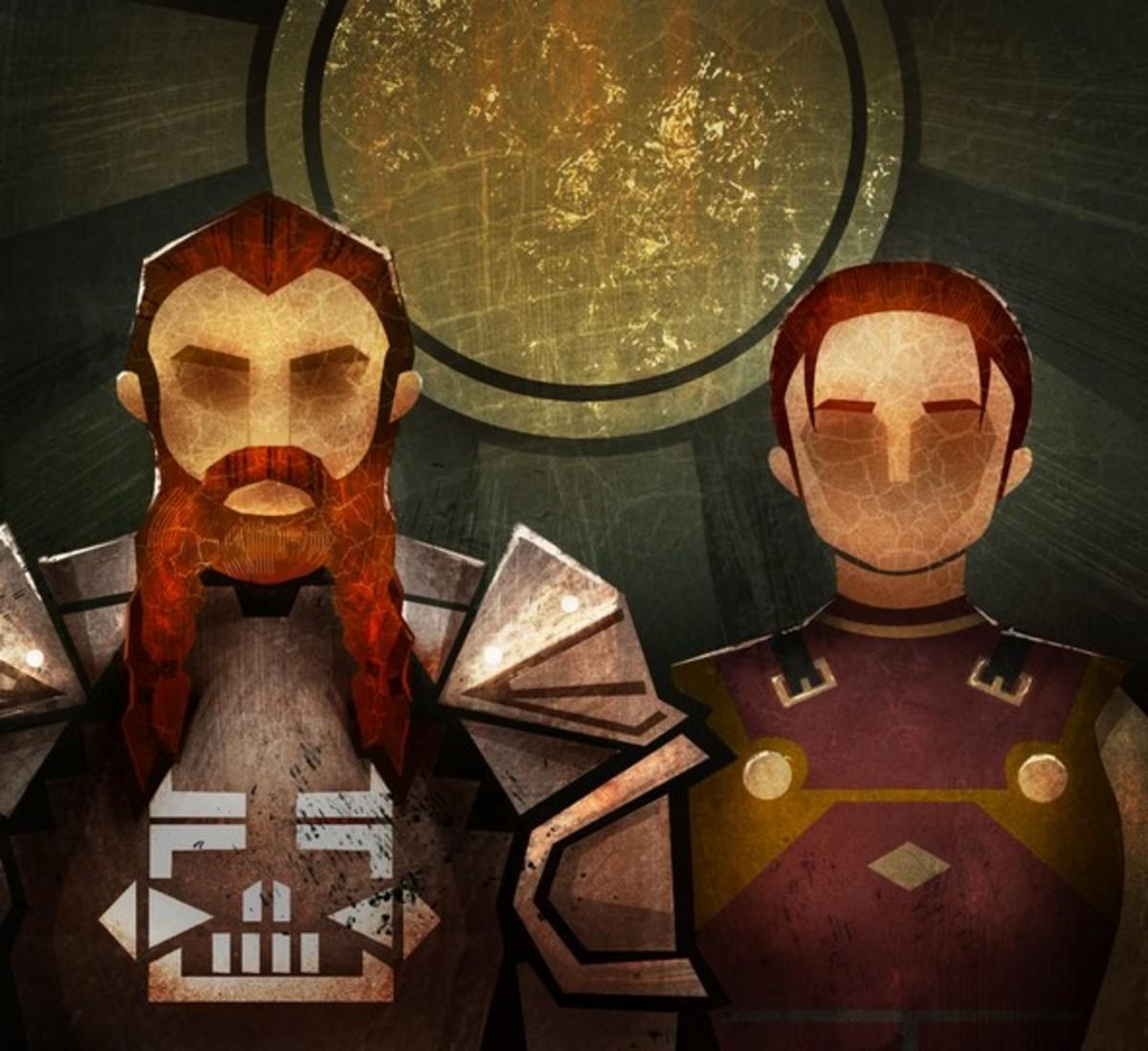 Oghren and Felsi in the Dragon Keep.