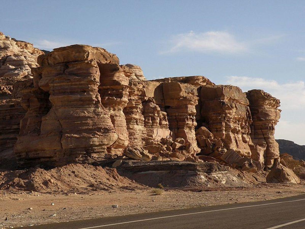 The road to Taba - Egypt, Sinai desert rocks