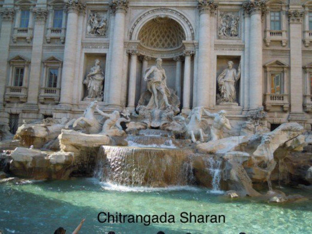 The Trevi fountain, Rome, Italy