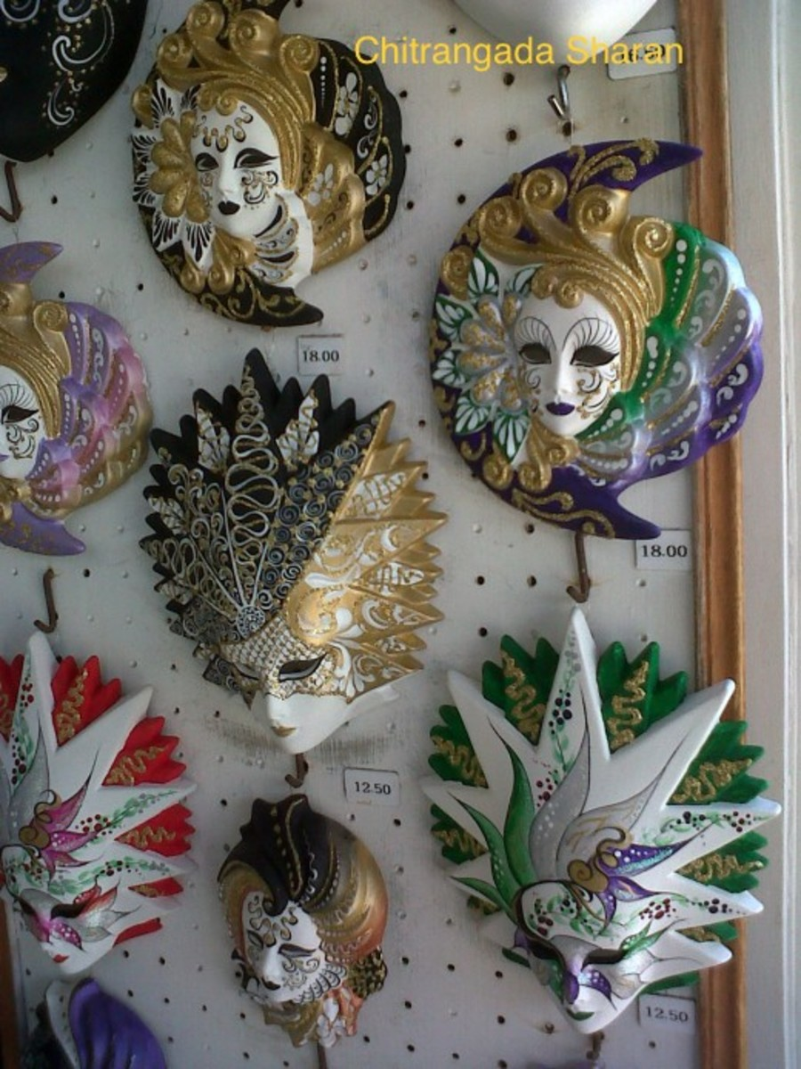 The Masks at display in a shop, Venice, Italy