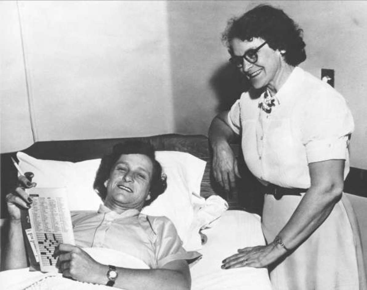 Babe Didrikson recovering in hospital after operation