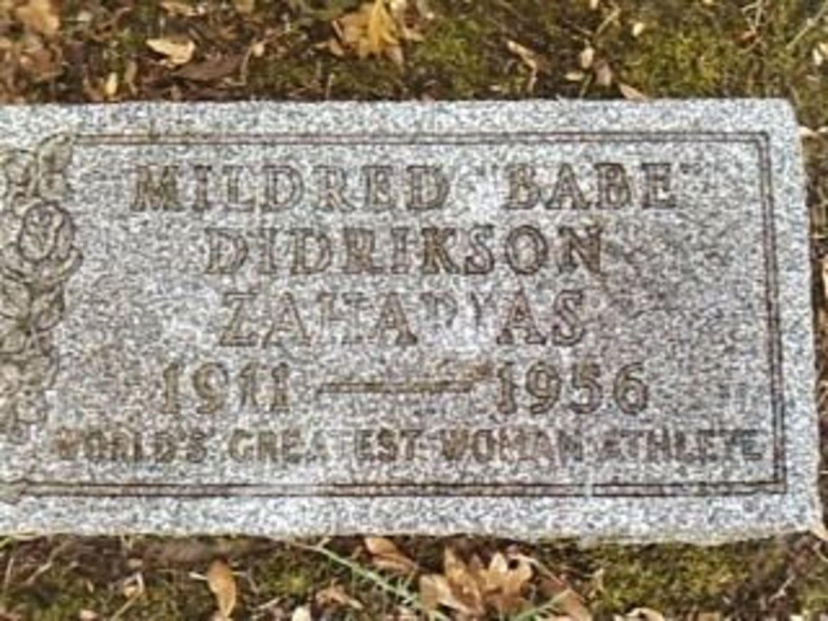 Babe Didrikson grave marker