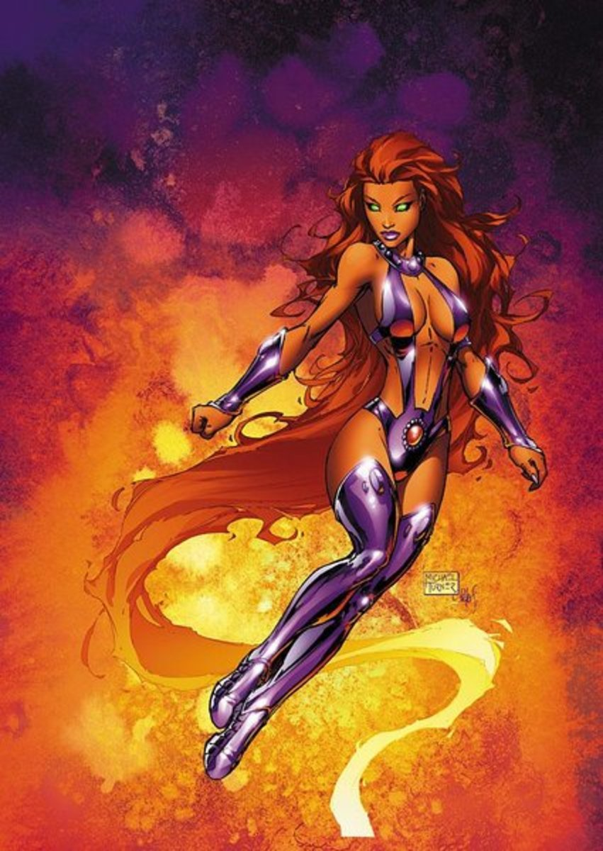 The lovely Starfire.