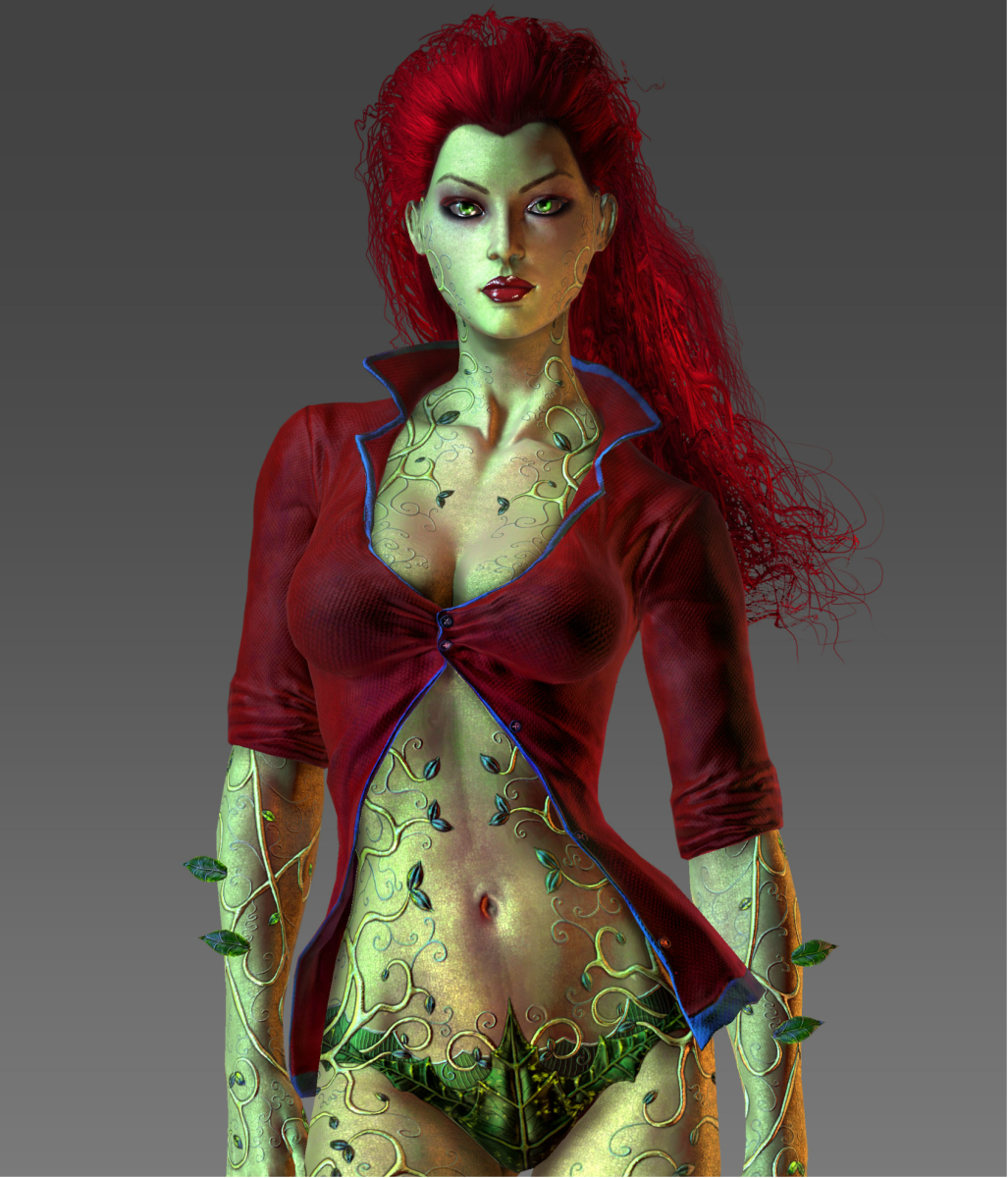 Poison Ivy as she appeared in Batman: Arkham Asylum.