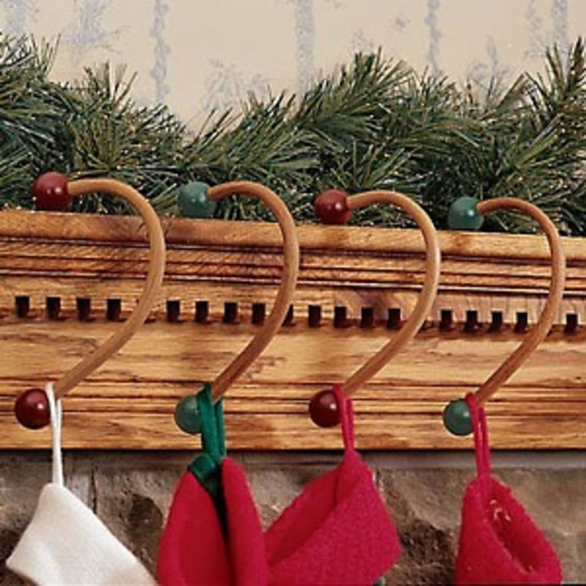 Christmas stocking hangers and holders