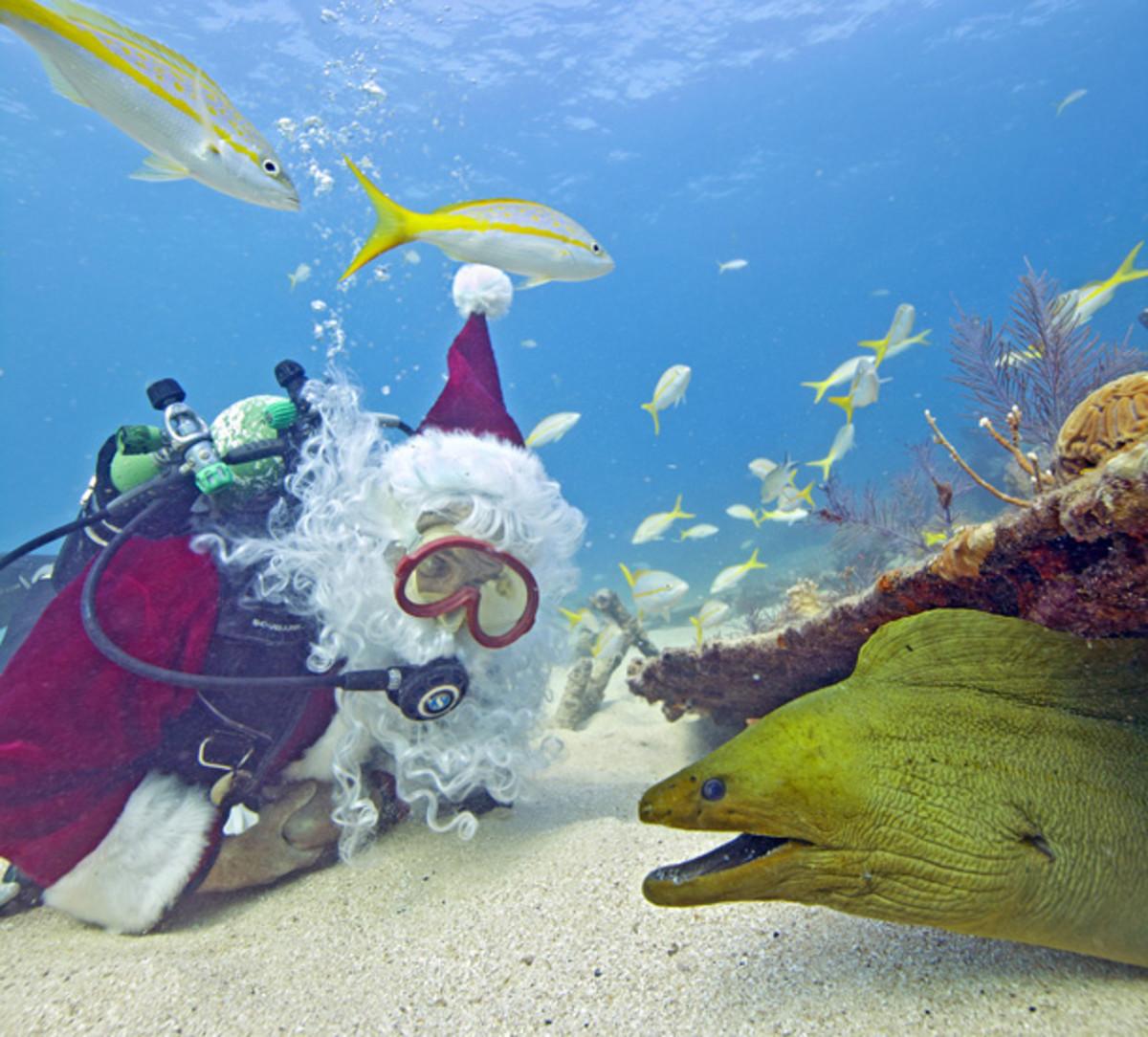 Scuba-diving Santa