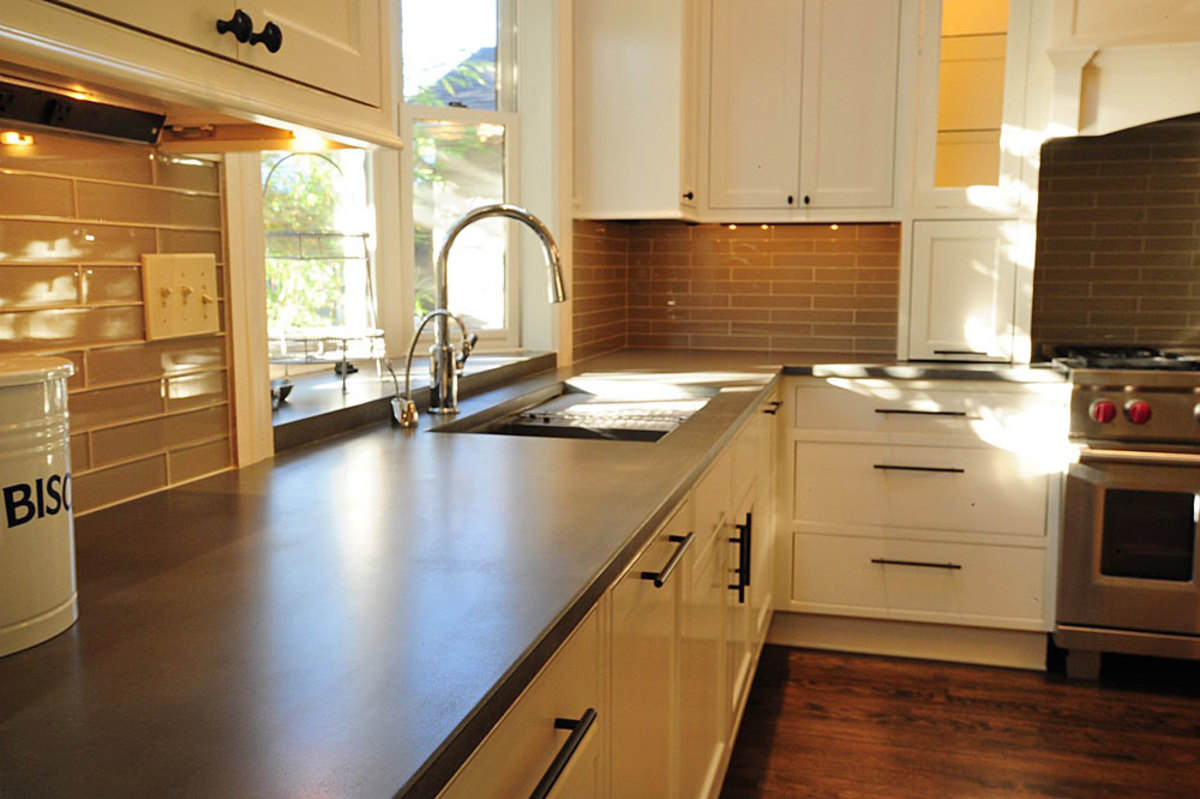 The concrete countertops are made for the style and function in your kitchen.