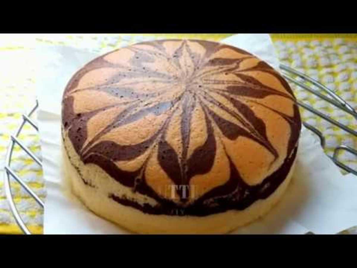 Almond Marble Cake