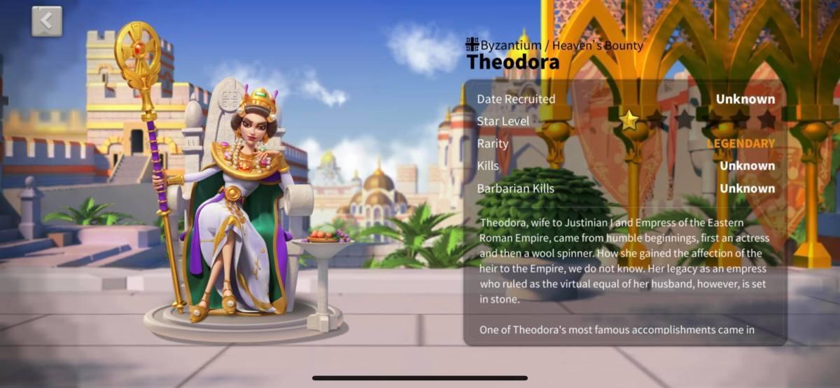 Theodora Profile Info Page