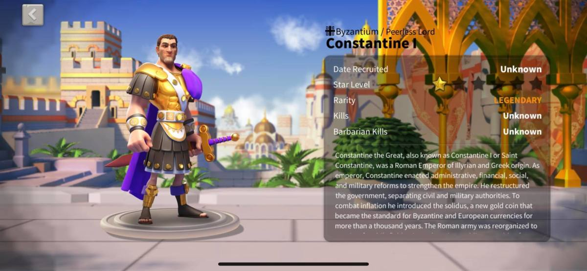 Constantine Info Page