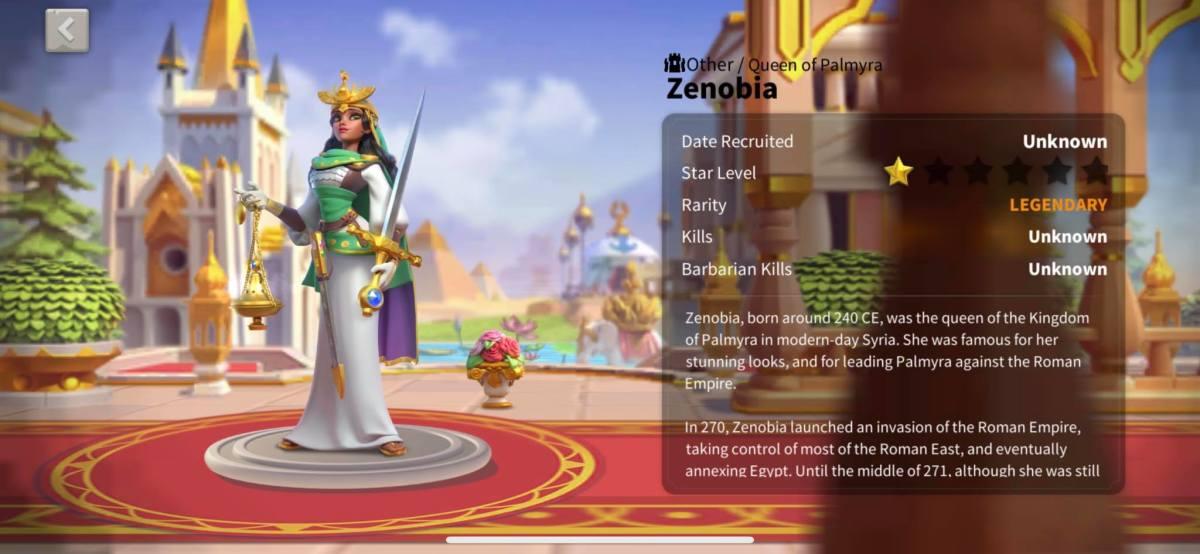 Zenobia Profile Page Info