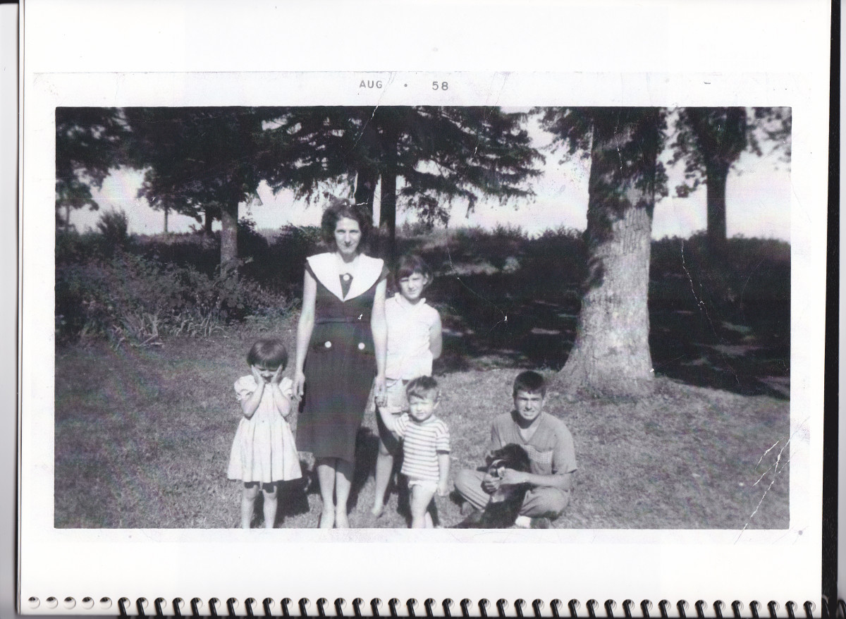 The author with Mother, Patty, Beatrice, and Philip in 1958