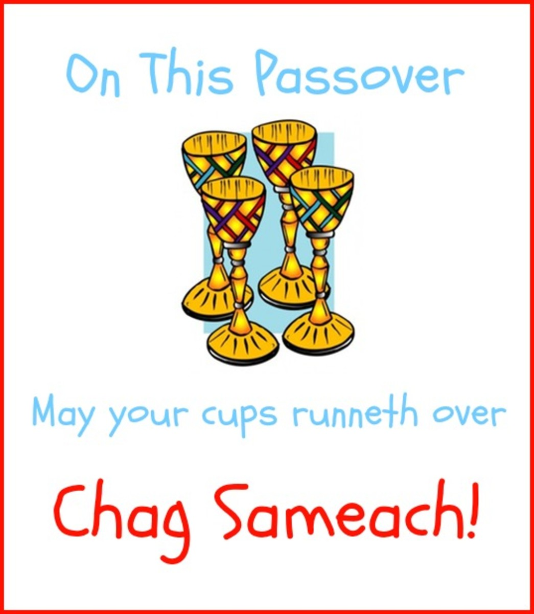 Happy Passover with Four Cups of Wine and Chag Sameach!