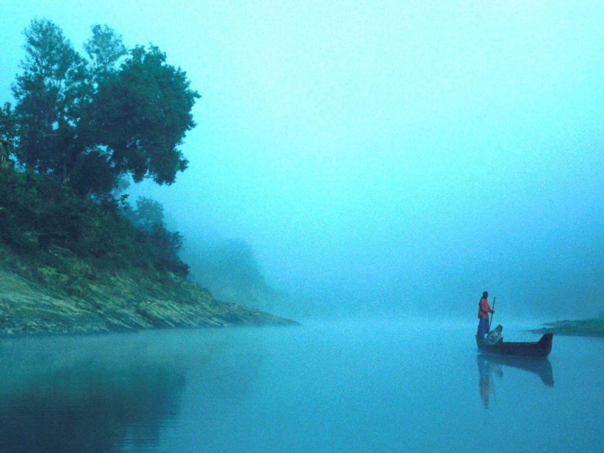River side scenario of winter