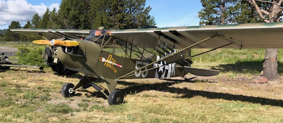 "Charles ""Bazooka Charlie"" Carpenter's restored plane"