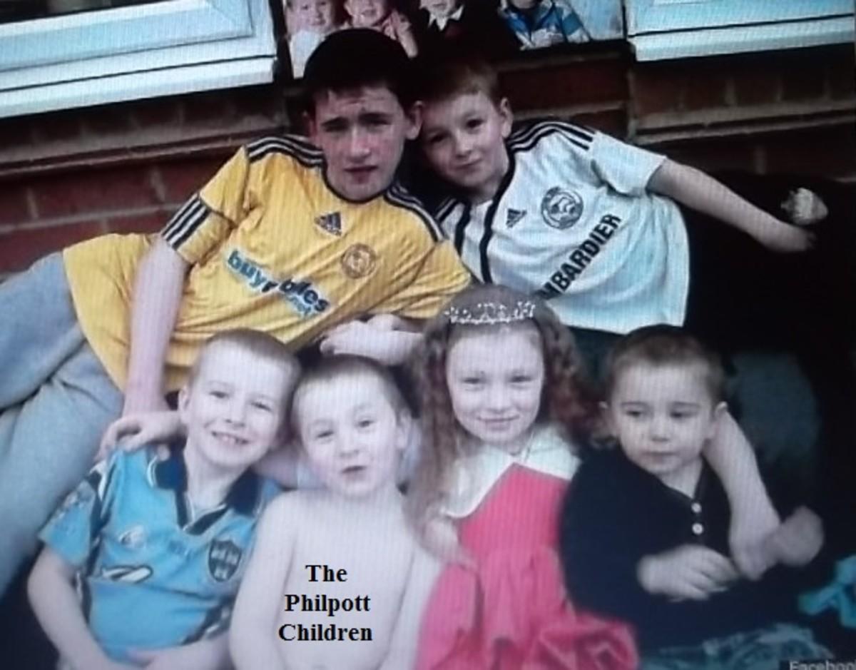 The philpott Children: Duwayne 13, John 9, Jack 7, Jayden 5, Jade 10, Jesse 6.