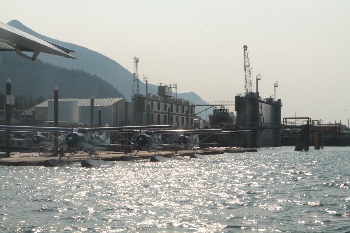 Taquan Air seaplanes at Ketchikan Harbor Seaplane Base
