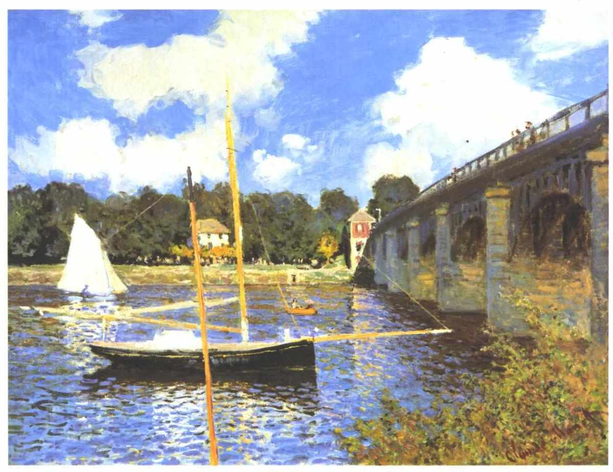 Straßenbrücke in Argenteuil, is located in National Gallery of Art: 1874.